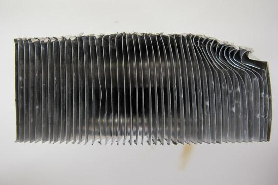 after cleaning radiator
