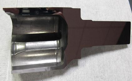 Case hardened part polished