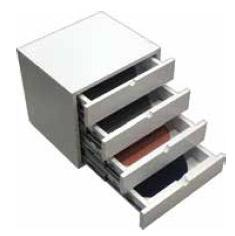 Drawer cabinet for storing discs