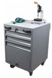 Stand for LEVOMAT with storage for